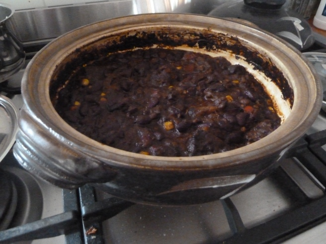 Slow cooked beef chili con carne