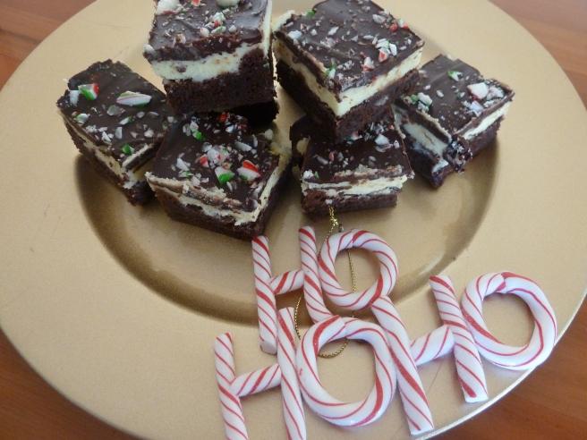 Peppermint brownie